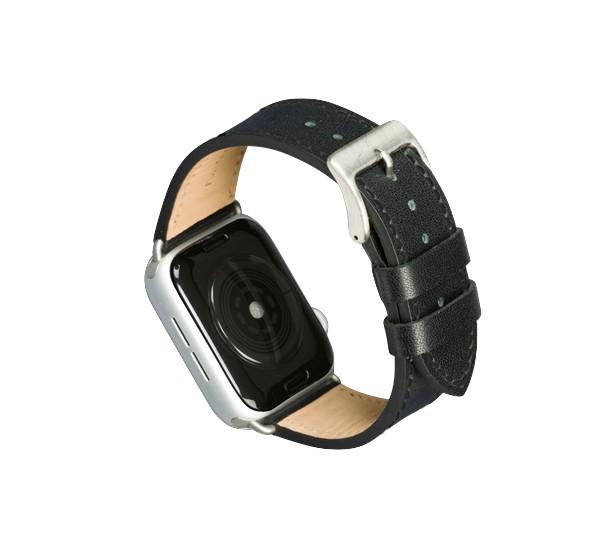dbramante1928 Copenhagen - Bracelet Apple Watch 40mm - Noir/argent
