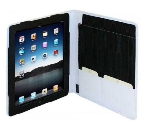 Image of Van der spek Luxe Lederen Folio Case met Schrijfblok iPad 2 / 3 / 4 wit 4070 6201