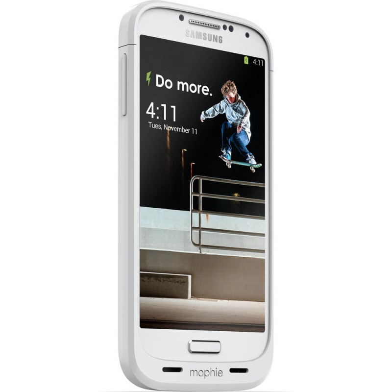 Mophie Coque Batterie - Juice Pack - Samsung Galaxy S4 - 2300 mAh Blanc