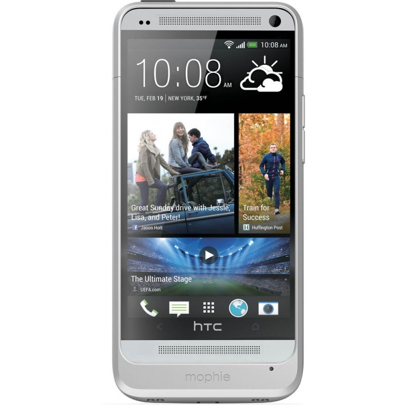 Mophie Coque Batterie - Juice Pack - HTC One - Argent