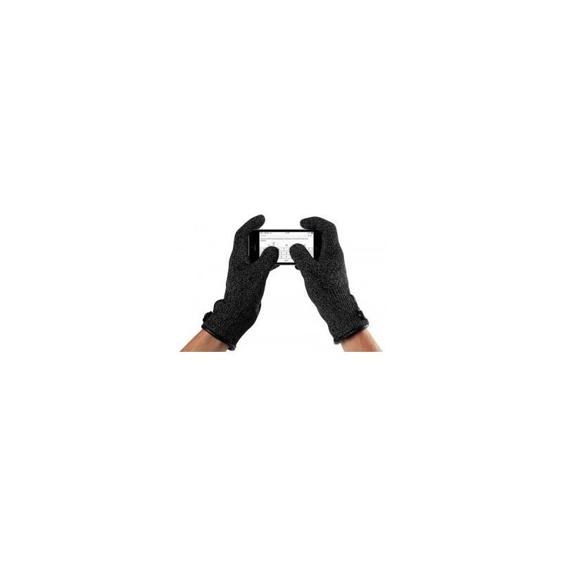 Mujjo Gant Tactile à Simple couche (L) Noir