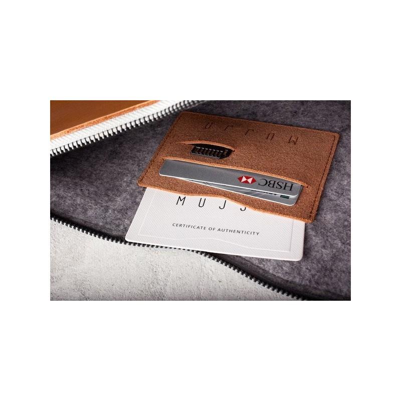 "Mujjo Pochette en cuir pour MacBook Pro / Air 13"" (Retina) Marron"