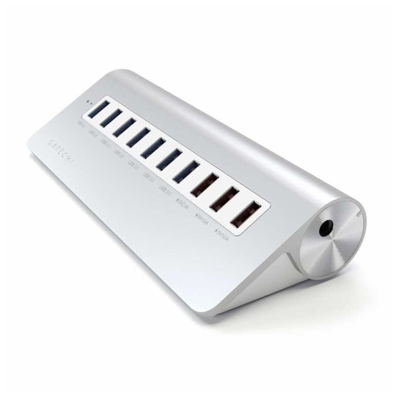 Satechi Adaptateur Hub USB 3.0 - 10 ports - Aluminium - Argent