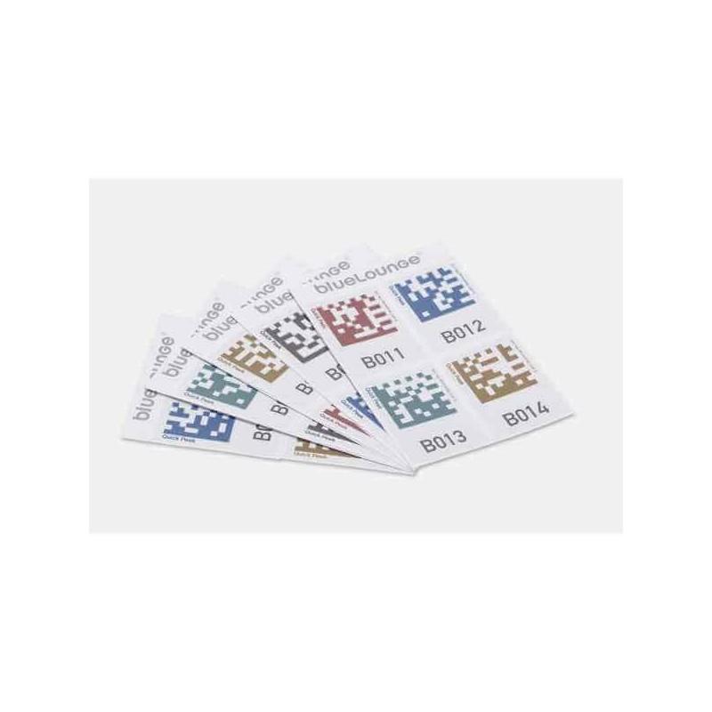 Bluelounge Quick Peek étiquettes de rangement- 32 autocollants