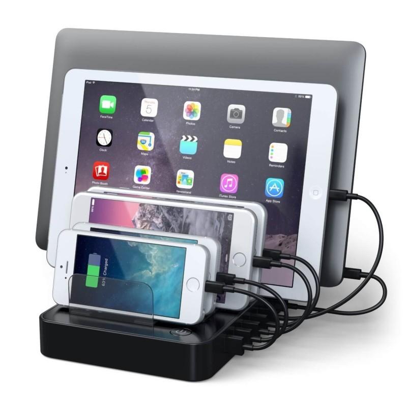 Satechi Station de recharge USB 7 ports - Noir