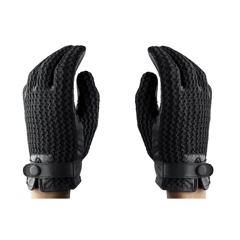 Mujjo Gants Tactiles en Cuir - Crochet - Taille 9 (L)