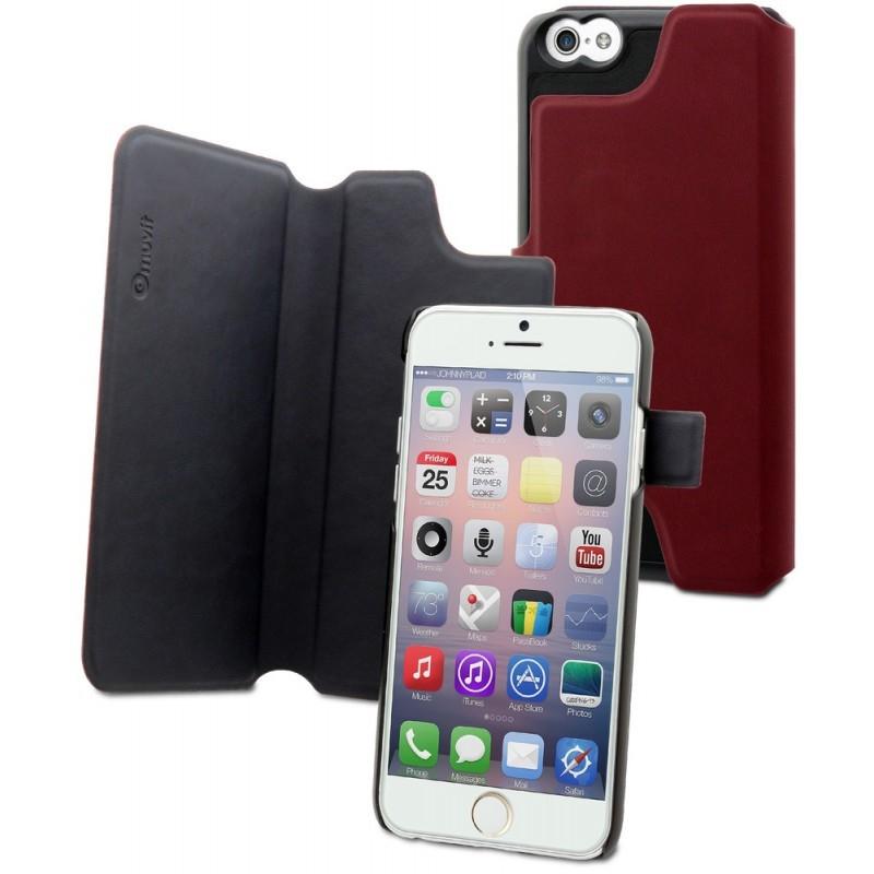 Muvit Magic Reverso - Étui iPhone 6(S) - Rouge / Brun