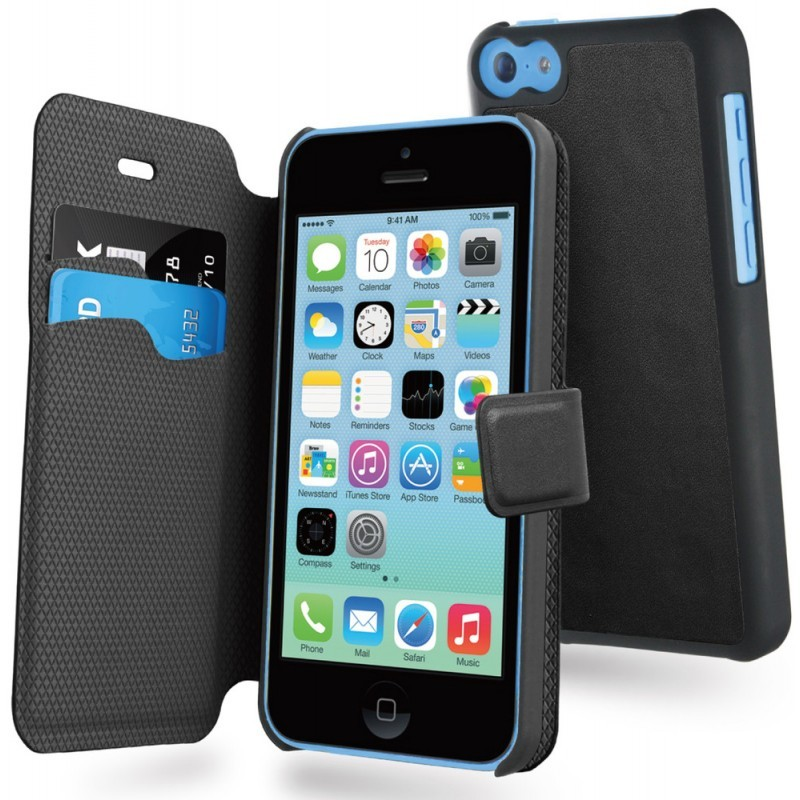 Muvit Magic Wallet Étui portefeuille iPhone 5C Noir