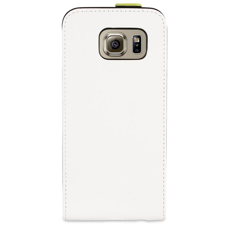 Muvit Slim - Étui à rabat Samsung Galaxy S6 - Blanc