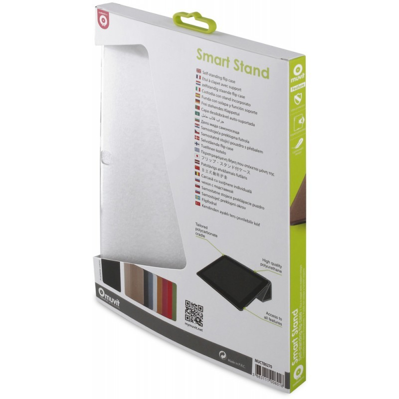 Muvit Smart - Étui Support Samsung Tab Galaxy 4 10.1 - Noir