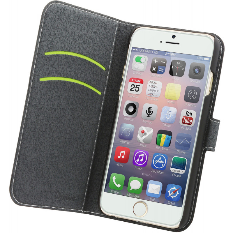 Muvit Wallet - Étui iPhone 6 / 6S Portefeuille - Noir