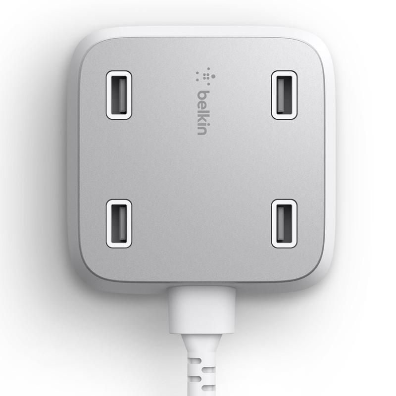 Belkin Family Rockstar Alimentation à 4-Port USB Blanc
