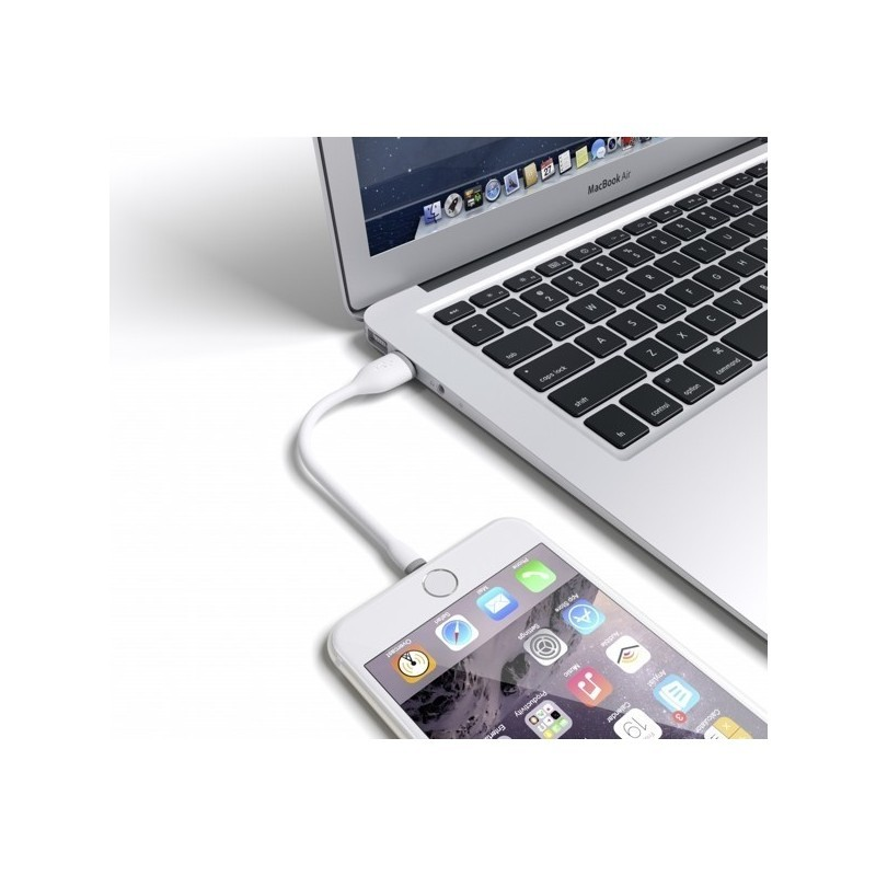 Satechi cable Flexible Lightning to USB Blanc