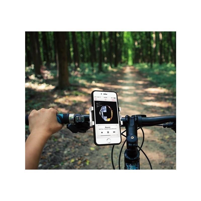 Macally Bikemount Support vélo téléphone iPhone Argent
