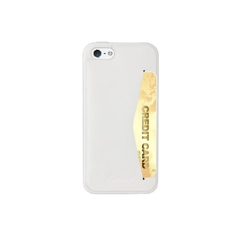 Muvit Leatherette - Coque pour iPhone 5 / 5S en cuir - Blanc