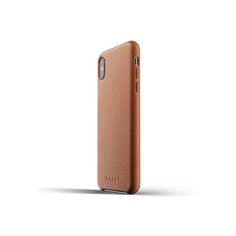 coque iphone xs cuir marron