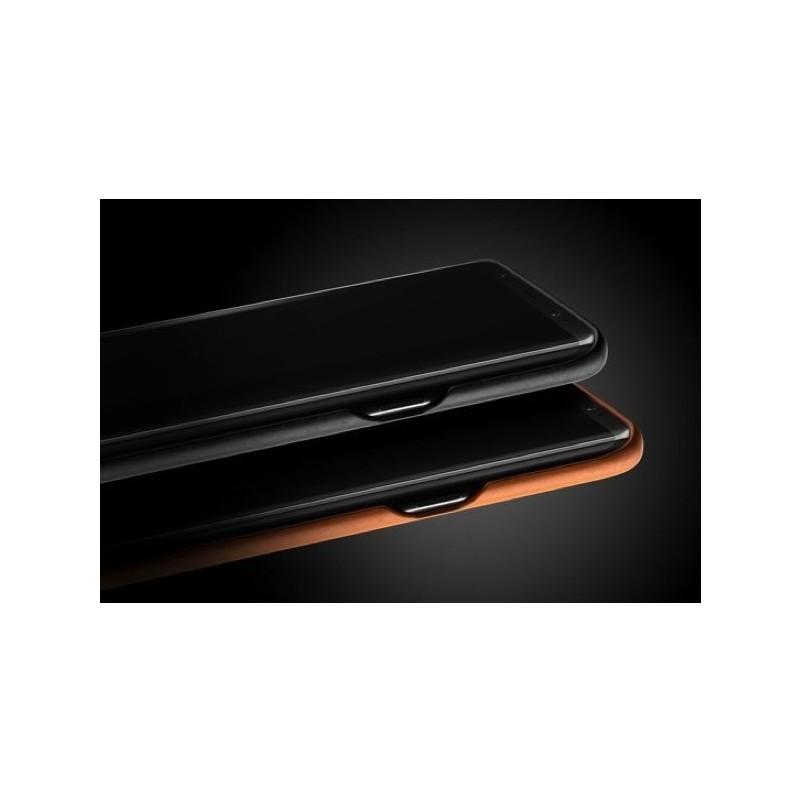 Mujjo Coque en cuir - Samsung Galaxy S8 Plus - Noir