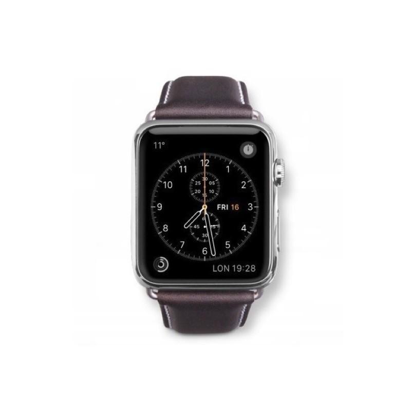 Dbramante1928 Copenhagen Sangle Apple Watch 38mm gris/marron foncé