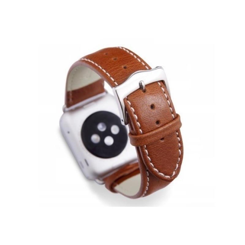Dbramante1928 Copenhagen Sangle Apple Watch 42mm argent/marron
