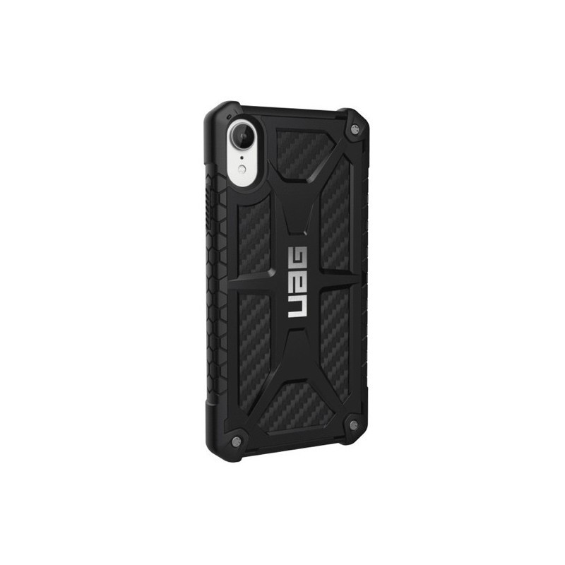 coque iphone xr carbon rouge