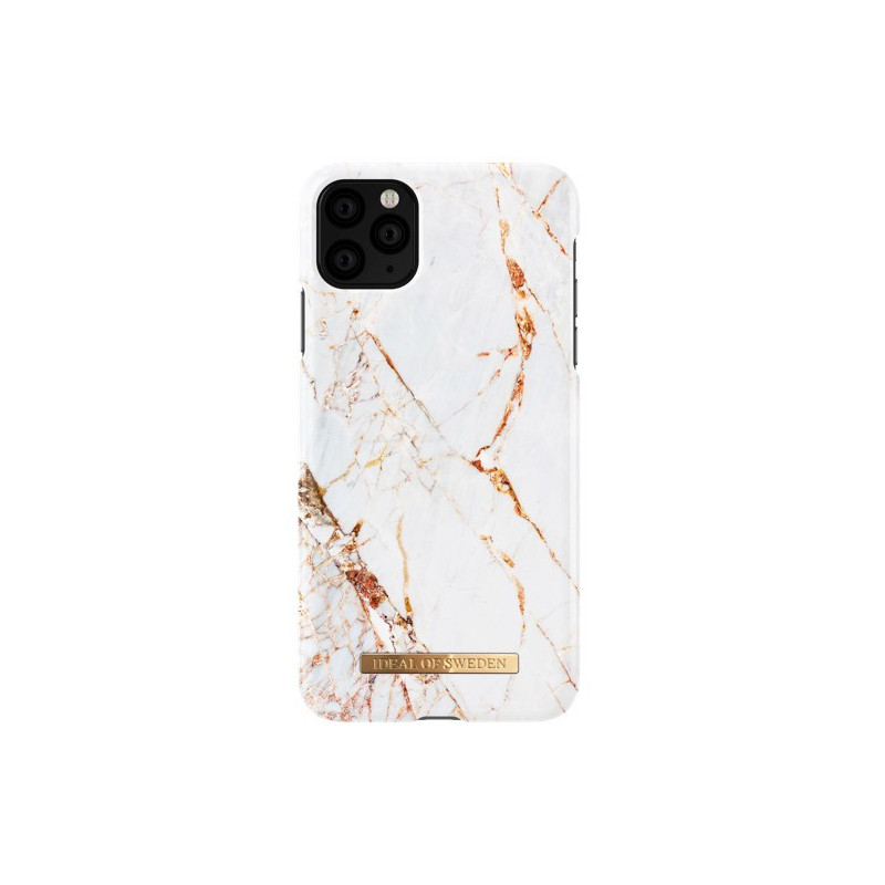 iDeal of Sweden Coque Fashion iPhone 11 Pro marbre blanc et or