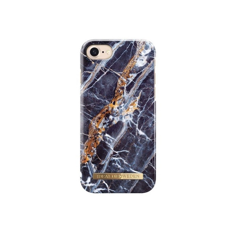 coque iphone 8 marbre bleu