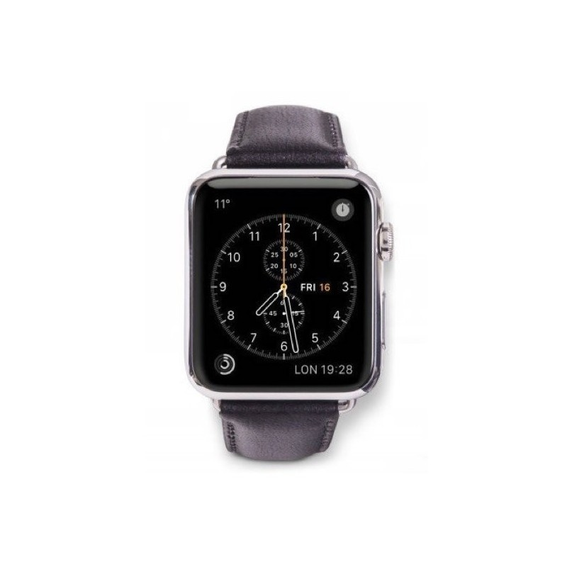 Dbramante1928 Copenhagen Sangle Apple Watch 38mm gris/noir