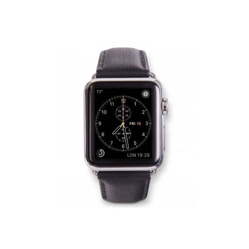 Dbramante1928 Copenhagen Sangle Apple Watch 42mm argent/noir