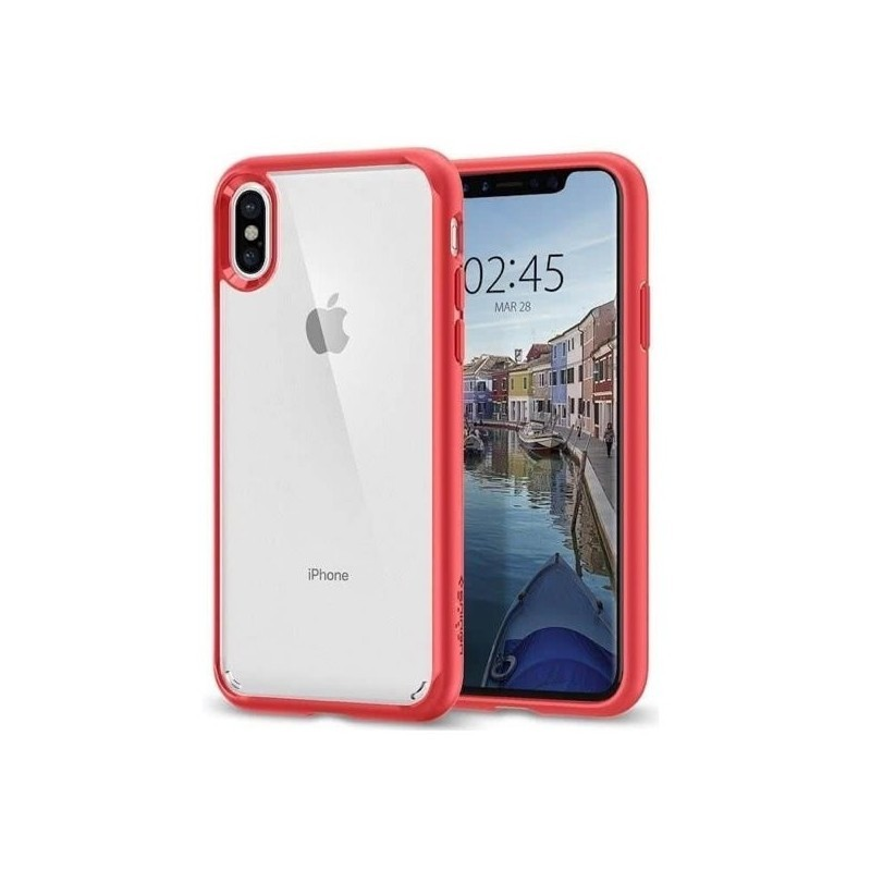 coque iphone xs spigen rouge