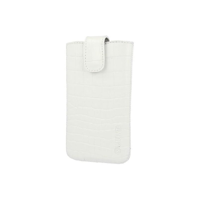 Leather Pocket Lucca Croco White Medium