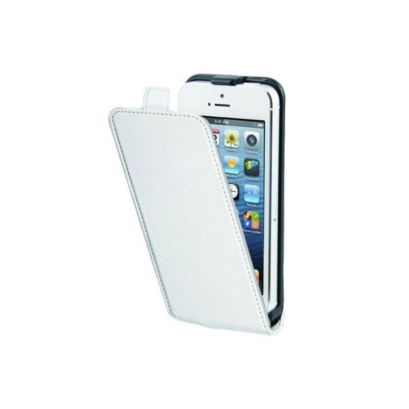 Muvit Slim - Étui iPhone 5 / 5S de protection à rabat - Blanc