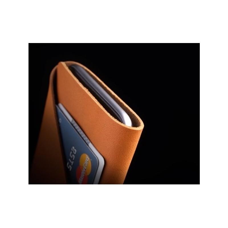 Mujjo Coque Portefeuille en cuir - Housse - iPhone 7 / 8 / SE 2020 - marron
