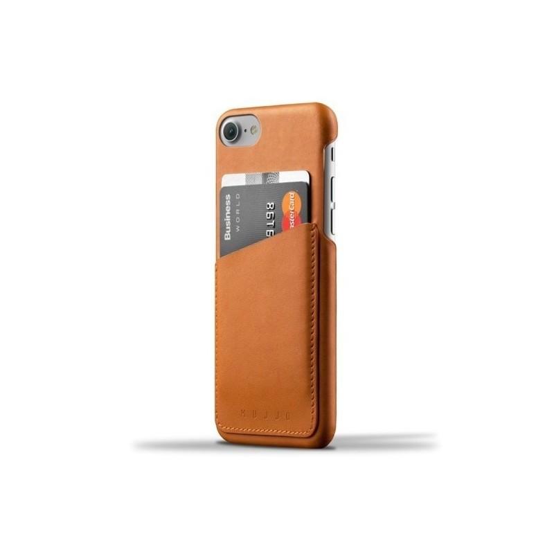 Coque portefeuille Mujjo en cuir iPhone 7 / 8 / SE 2020 marron