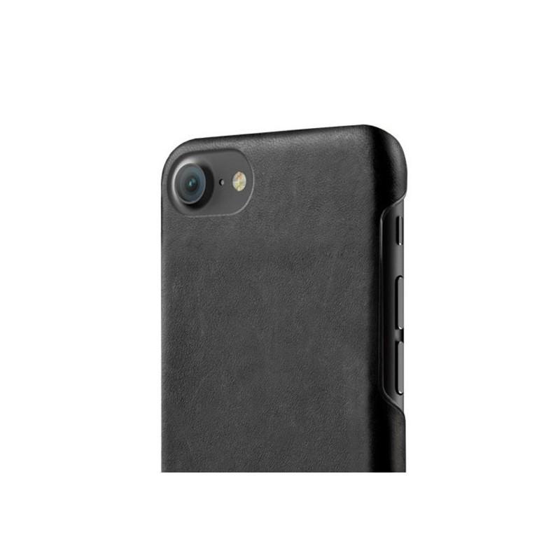 Mujjo Coque en cuir - iPhone 7 / 8 / SE 2020  - Noir