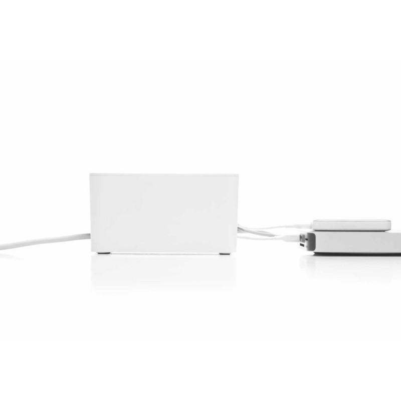 Bluelounge CableBox Mini boîte rangement blanche