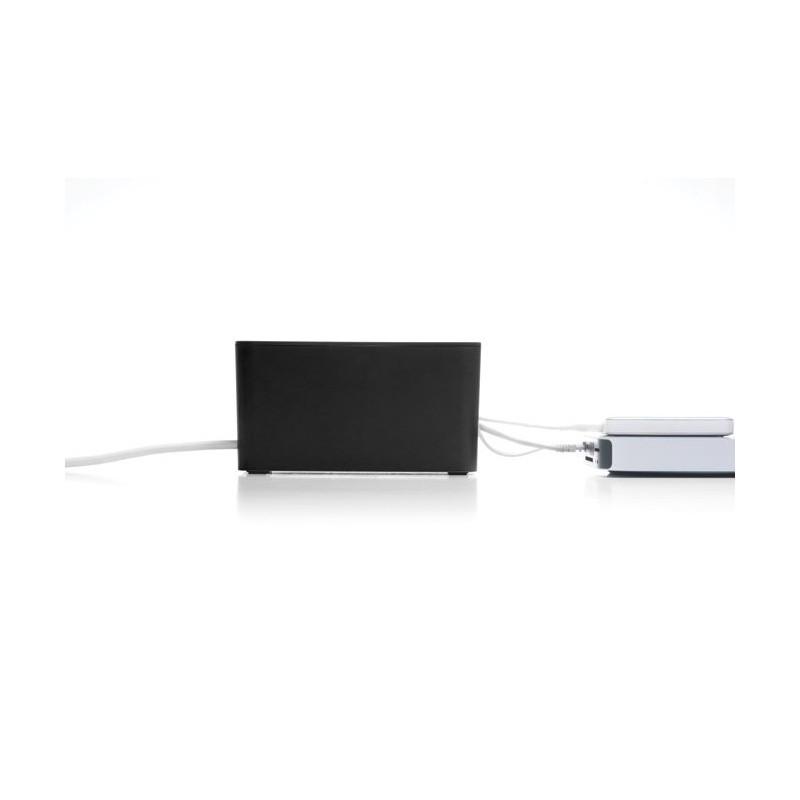 Bluelounge CableBox Mini boîte rangement noire