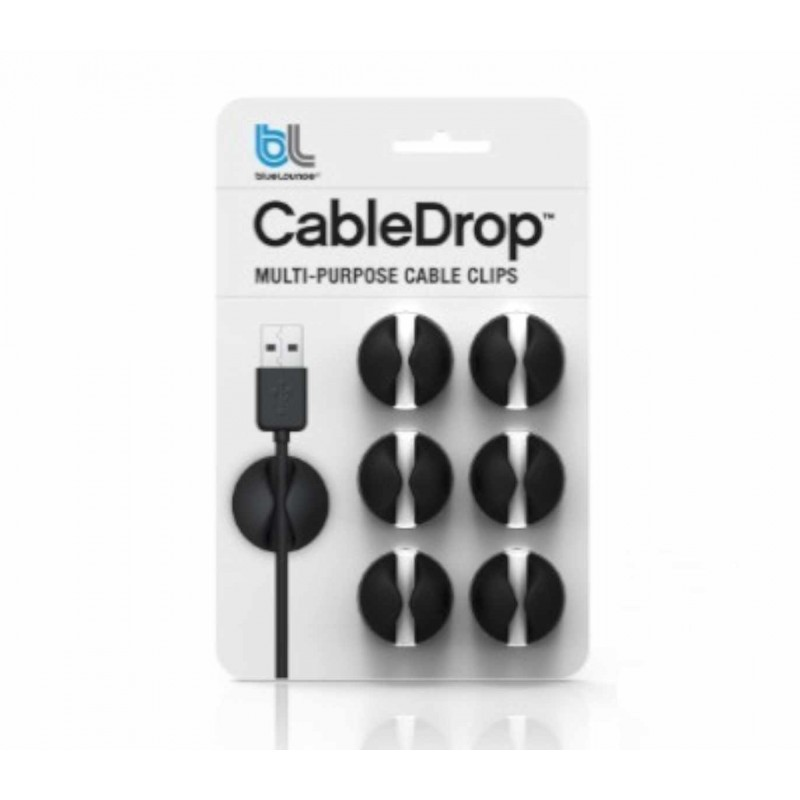 Bluelounge CableDrop Pack de 6 Noir