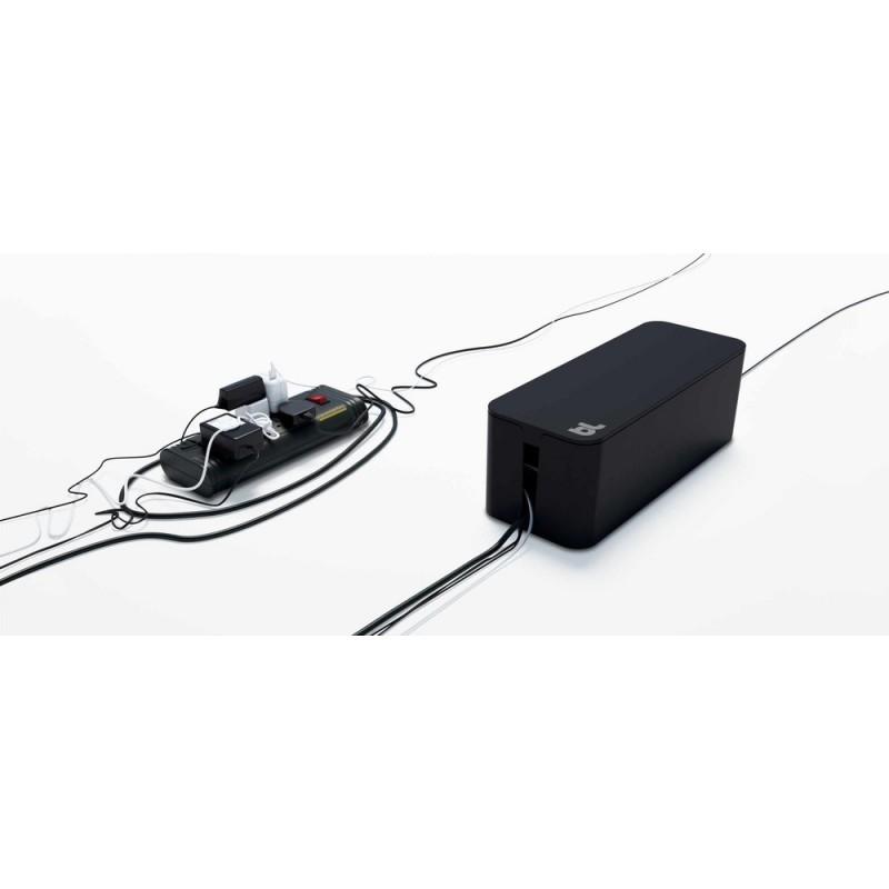 Bluelounge CableBox boîte rangement noire