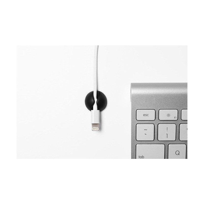 Bluelounge CableDrop Mini Pack de 9 Noir
