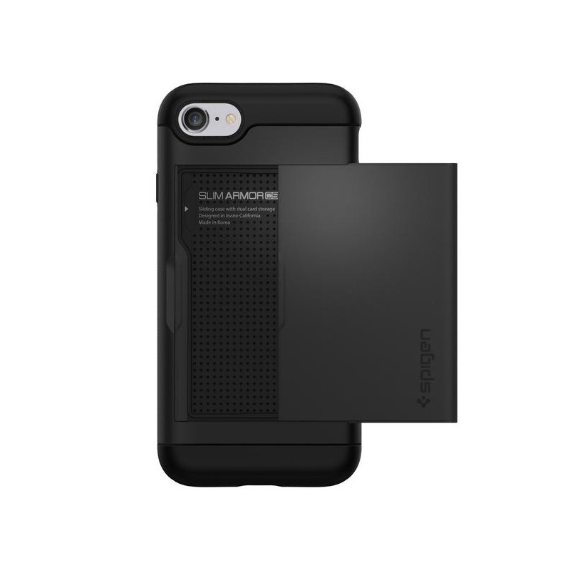 Spigen Slim Armor CS Coque iPhone 7 / 8 / SE 2020 noir