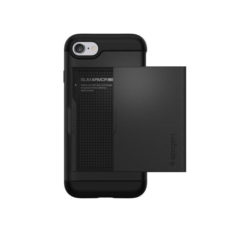 Spigen Slim Armor CS Coque iPhone 7 / 8 / SE 2020 noir
