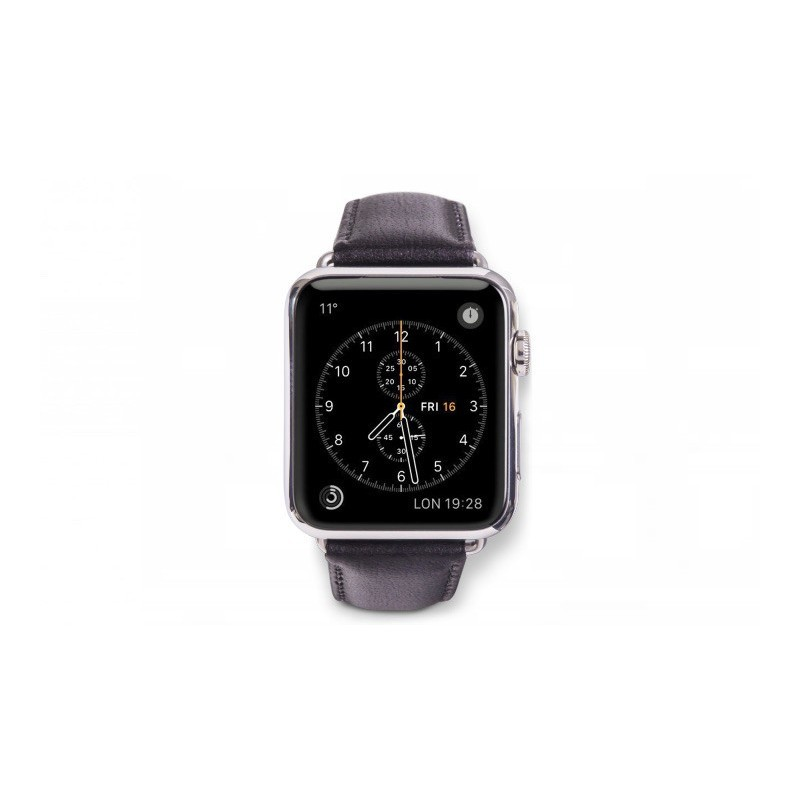 Dbramante1928 Copenhagen Sangle Apple Watch 42mm gris/noir
