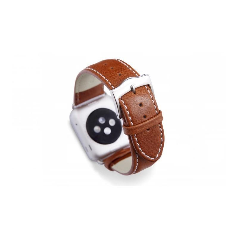 Dbramante1928 Copenhagen Sangle Apple Watch 38mm argent/marron