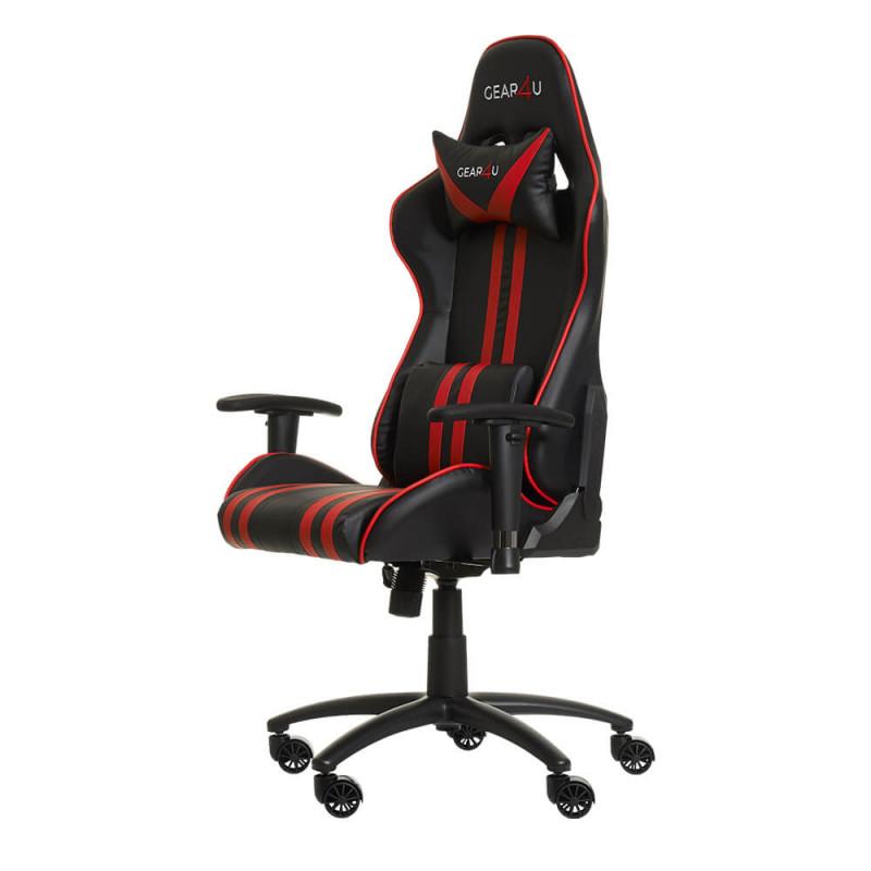 Gear4U Elite - Siège gamer / Chaise gaming - Rouge / Noir