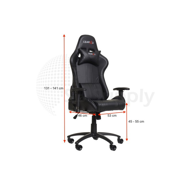 Gear4U Elite - Siège gamer / Chaise gaming - Noir