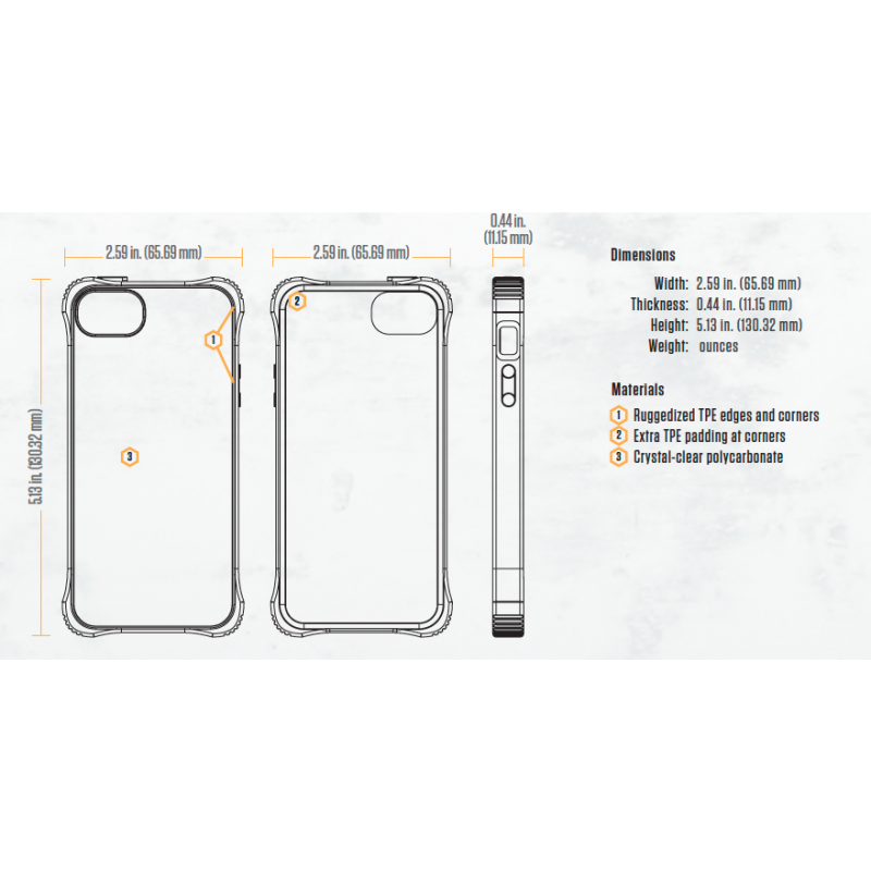 Griffin Survivor Core étui iPhone 5(S)/SE transparent