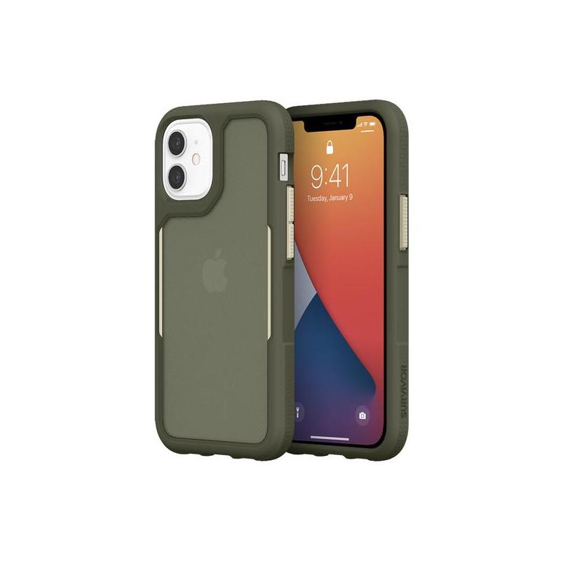 Griffin Survivor Endurance - Coque iPhone 12 Mini - Vert