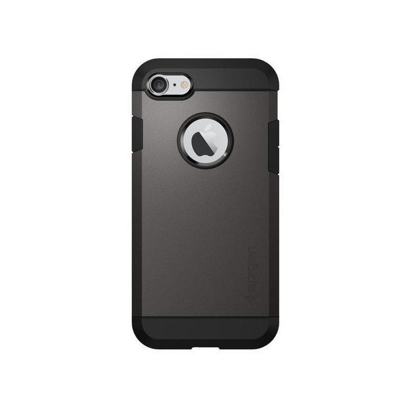 Spigen Slim Armor Coque iPhone 7 / 8 / SE 2020 gris métal