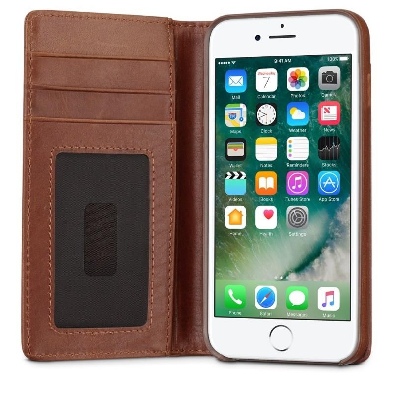 Twelve South Journal Portefeuille iPhone 7 / 8 Plus Cognac