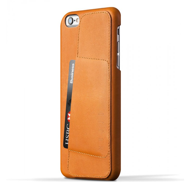 Mujjo wallet leren case iPhone 6(S) Plus bruin